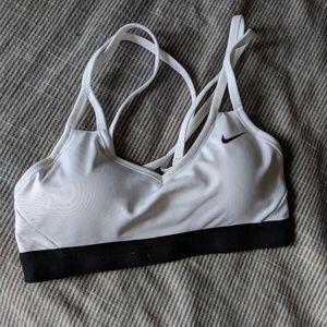 Nike sports bra white